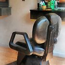 Barber Chair and Hair Supplies by Susan Savad