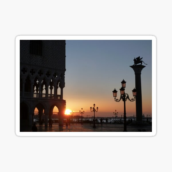 Sunrise in Venice Sticker