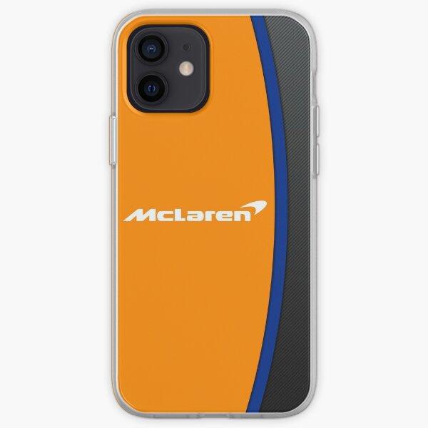 Mclaren f1 logo and leather design iPhone Soft Case