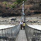 Pokhara Suspension Bridge Perspective by John Dalkin