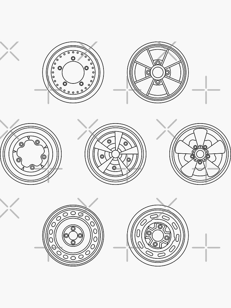 Classic Car Wheel Pattern - Aircooled Life by Joemungus
