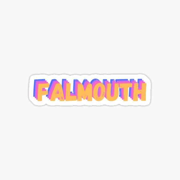 Falmouth handlettered Sticker