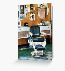 Barber Shop One Chair Greeting Card