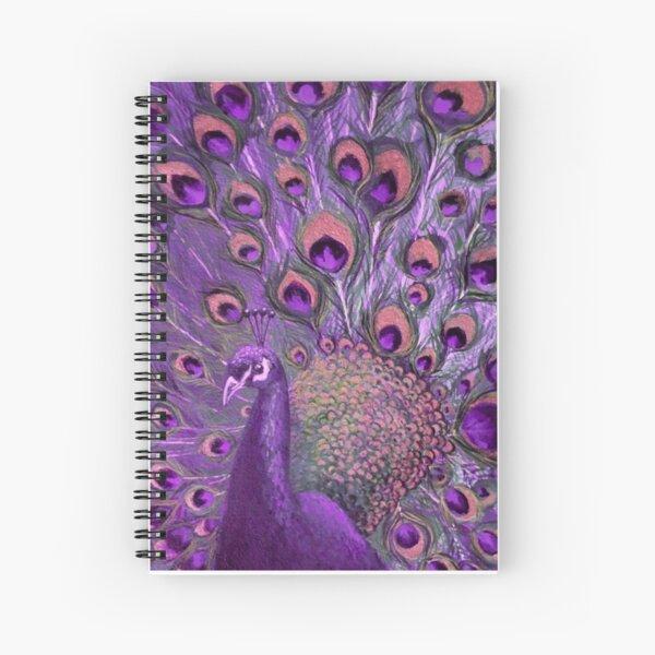Purple Peacock Full Glory Spiral Notebook