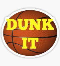 basketball (dunk it) Sticker