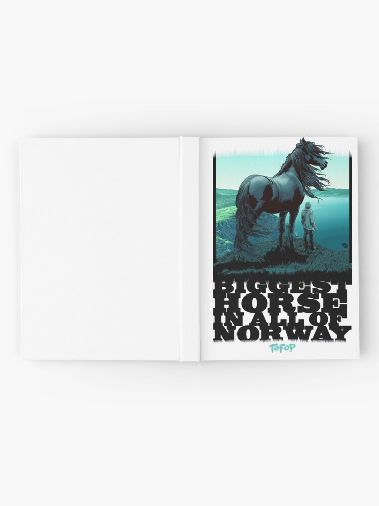 Alternate view of TOFOP - The Biggest Horse in ALL of Norway Hardcover Journal