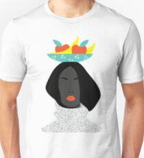 digital fashion woman in banana hat T-Shirt