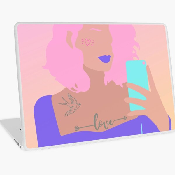 Queen of Instagram  Laptop Skin