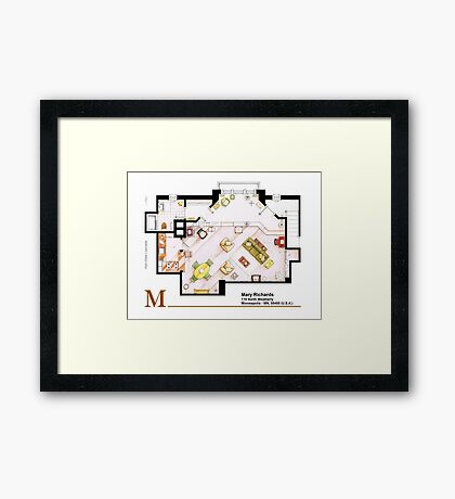 Mary Richards apt. from The Mary Tyler Moore Show Framed Print