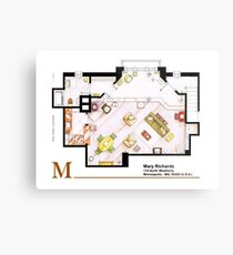 Mary Richards apt. from The Mary Tyler Moore Show Metal Print