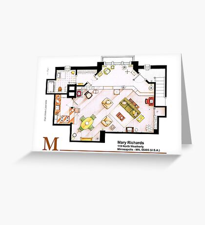 Mary Richards apt. from The Mary Tyler Moore Show Greeting Card