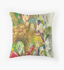 the seven deadly sins Throw Pillow