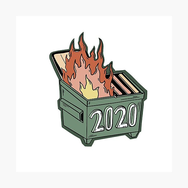 2020 Dumpster Fire  Photographic Print