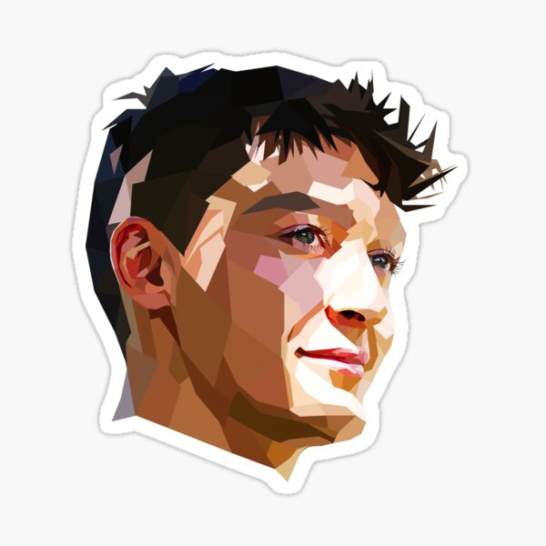 George Russell Lowpoly Sticker