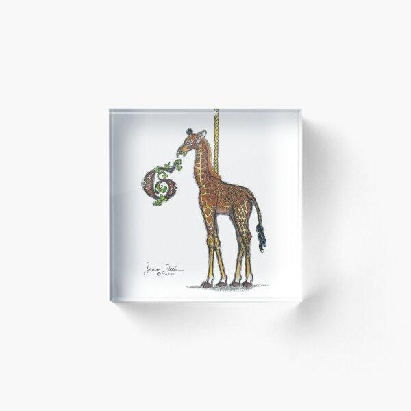 G is for Giraffe! Acrylic Block