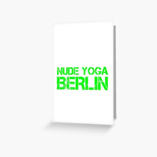 Nude Yoga Berlin Greeting Card