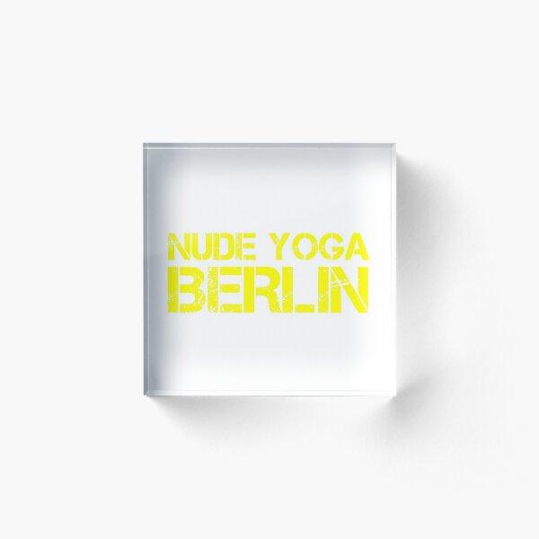 Nude Yoga Berlin Acrylic Block