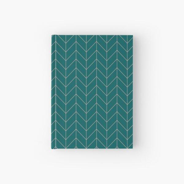 Green Chevron Hardcover Journal