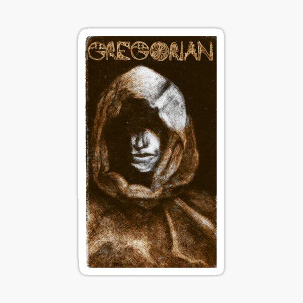 Gregorian Monk Mezzotint Sticker