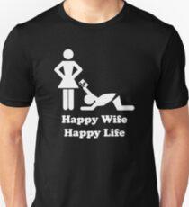 Happy Wife Happy Life Husband Holiday Wedding T-Shirt