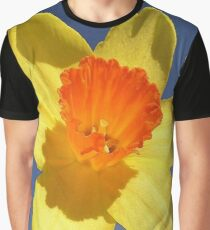 Yellow and Orange Colored Daffodil Close Up Graphic T-Shirt