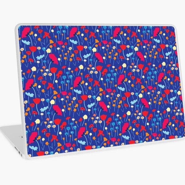POPPY MEADOW ROYAL BLUE Laptop Skin