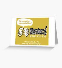 Mornings with Dan & Harry, KPHL 93.2 FM Greeting Card