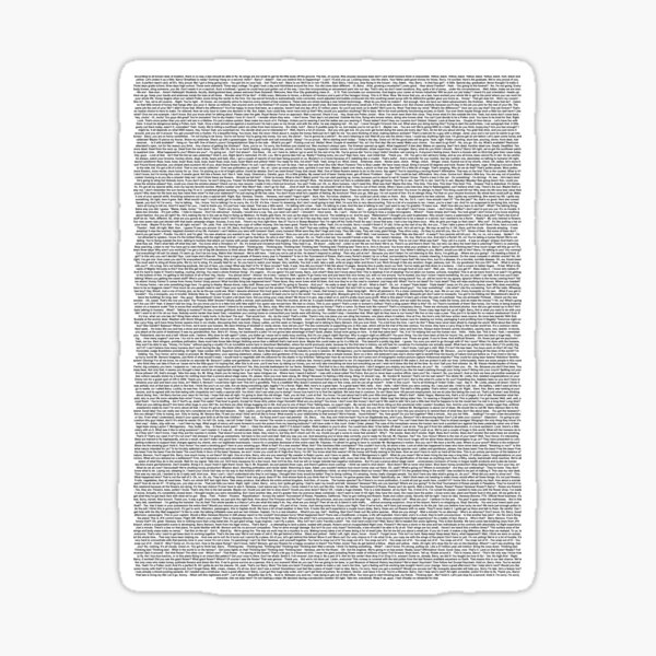 The Bee Movie Script Sticker