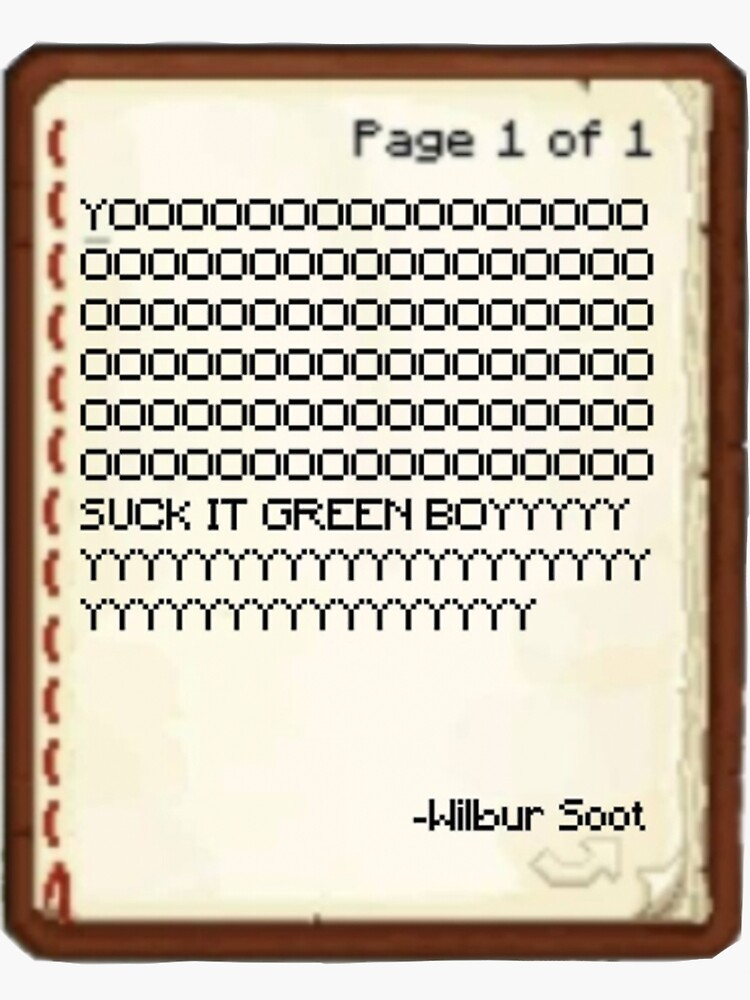 wilbur soot dream smp sticker by aestheticvibing