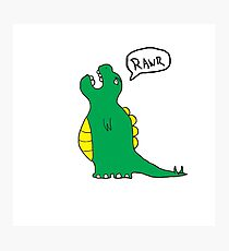 Charlie the dinosaur Photographic Print