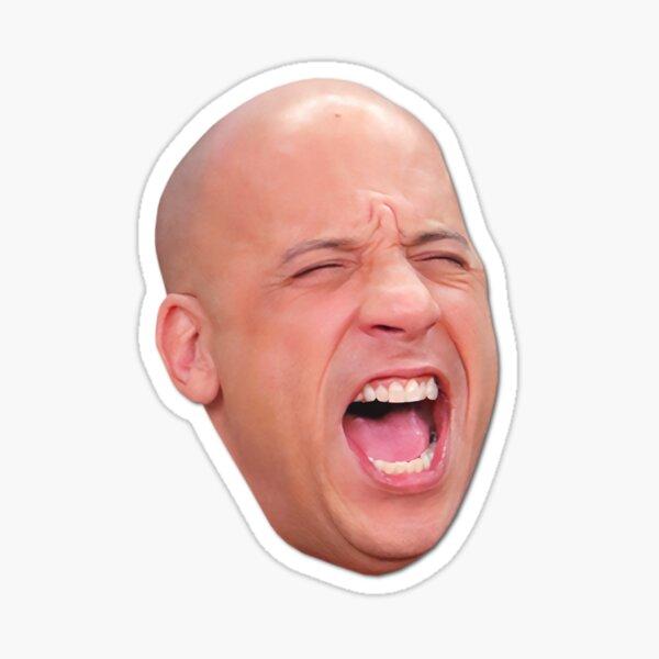 12 Vin Diesel Head | Star der Blockbuster-Actionfilme | 2020 | Digitale Kunst Sticker