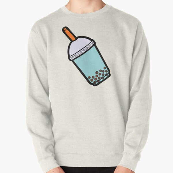 Bubble Tea Pattern Pullover Sweatshirt
