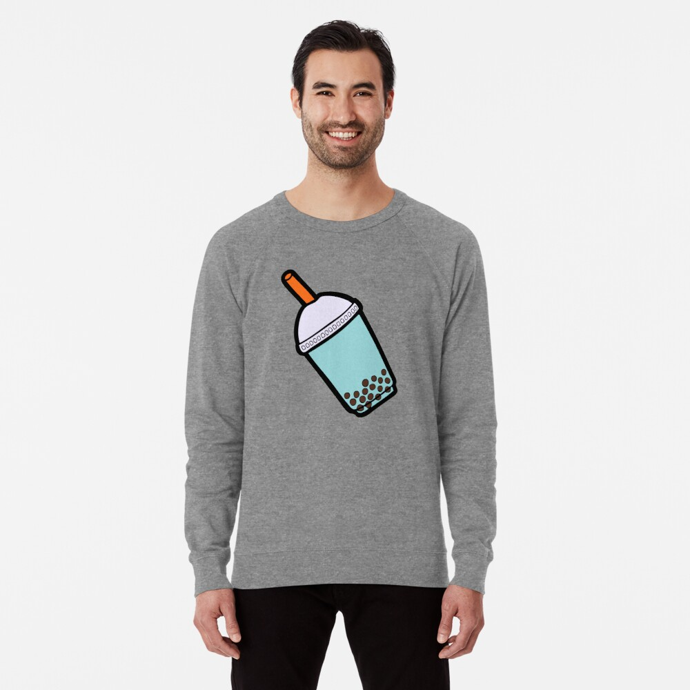 Bubble Tea Pattern Lightweight Sweatshirt