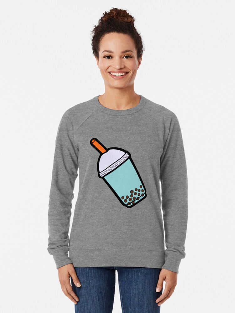 Alternate view of Bubble Tea Pattern Lightweight Sweatshirt