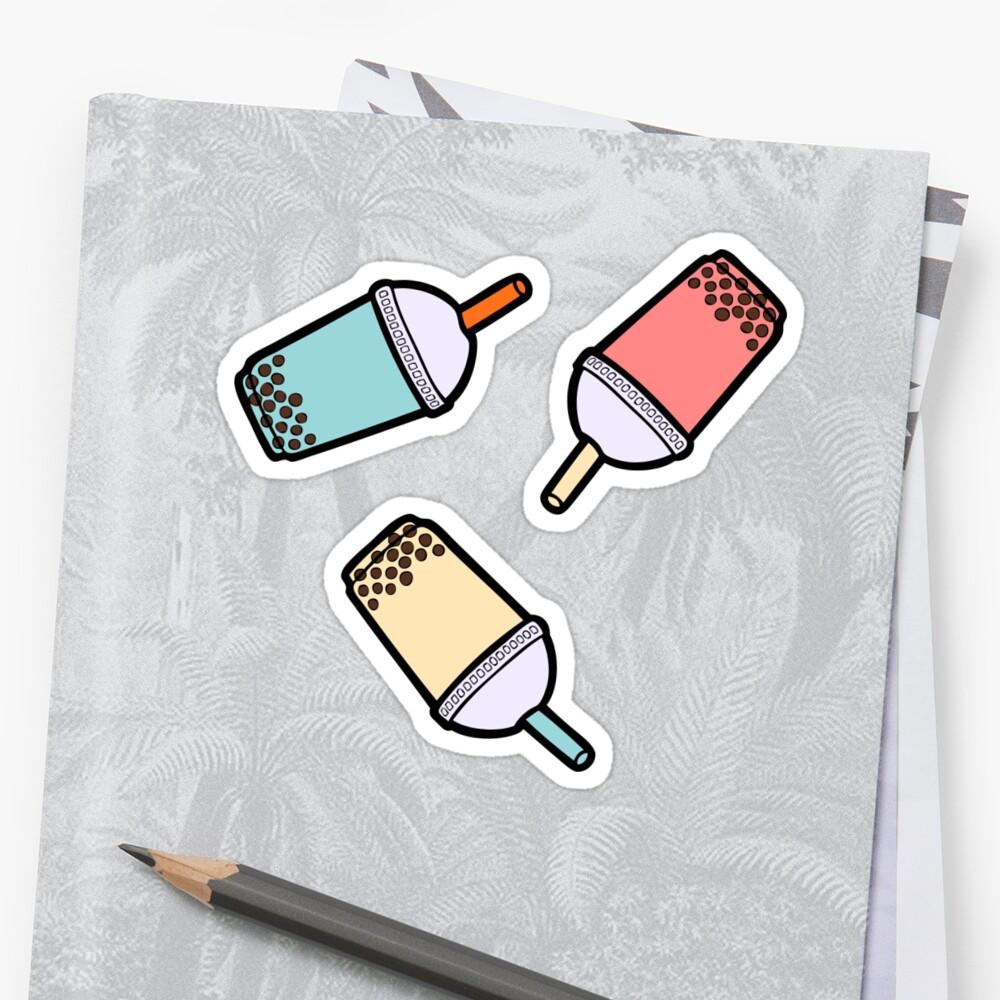 Bubble Tea Pattern Sticker