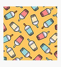 Bubble Tea Pattern Photographic Print