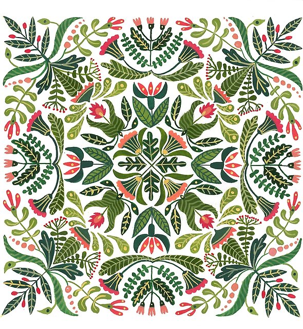 Little red riding hood - mandala pattern by zsalto
