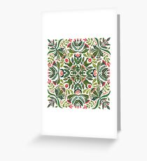 Little red riding hood - mandala pattern Greeting Card