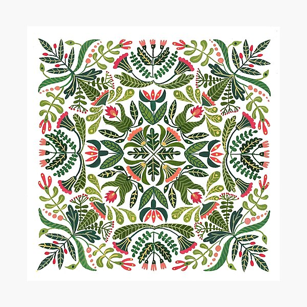 Little red riding hood - mandala pattern Photographic Print