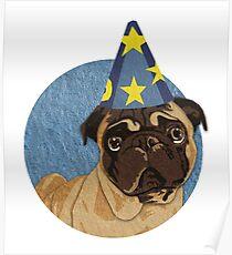 Magic Pug Sorceror Poster