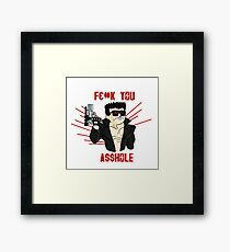 CYBORG FROM THE FUTURE Censored Version  Framed Print