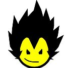 SMILEY FACE VEGETA by Chris Bryer