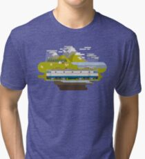 Railway Locomotive #40 Tri-blend T-Shirt