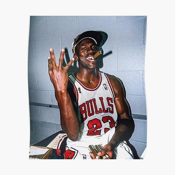 Micheal Jordan Cigar Poster