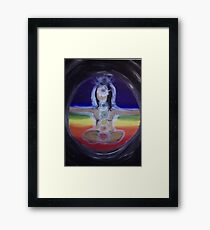 Chakra Yogi (Girl) Framed Print