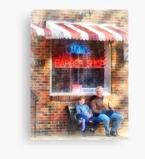 Neighborhood Barber Shop Canvas Print