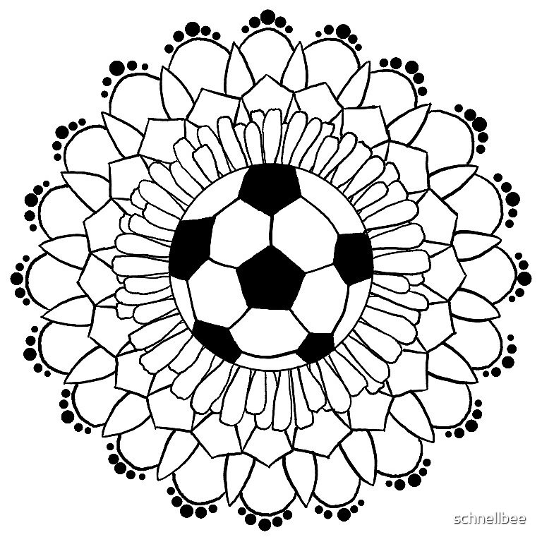 soccer mandala by schnellbee redbubble. Black Bedroom Furniture Sets. Home Design Ideas