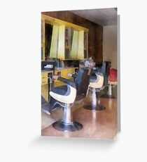 Small Town Barber Shop Greeting Card