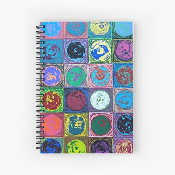 Music Monoprints Spiral Notebook