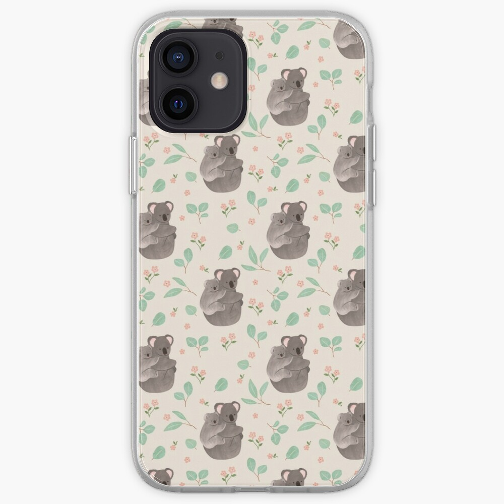 Koala and Eucalyptus Pattern iPhone Case & Cover